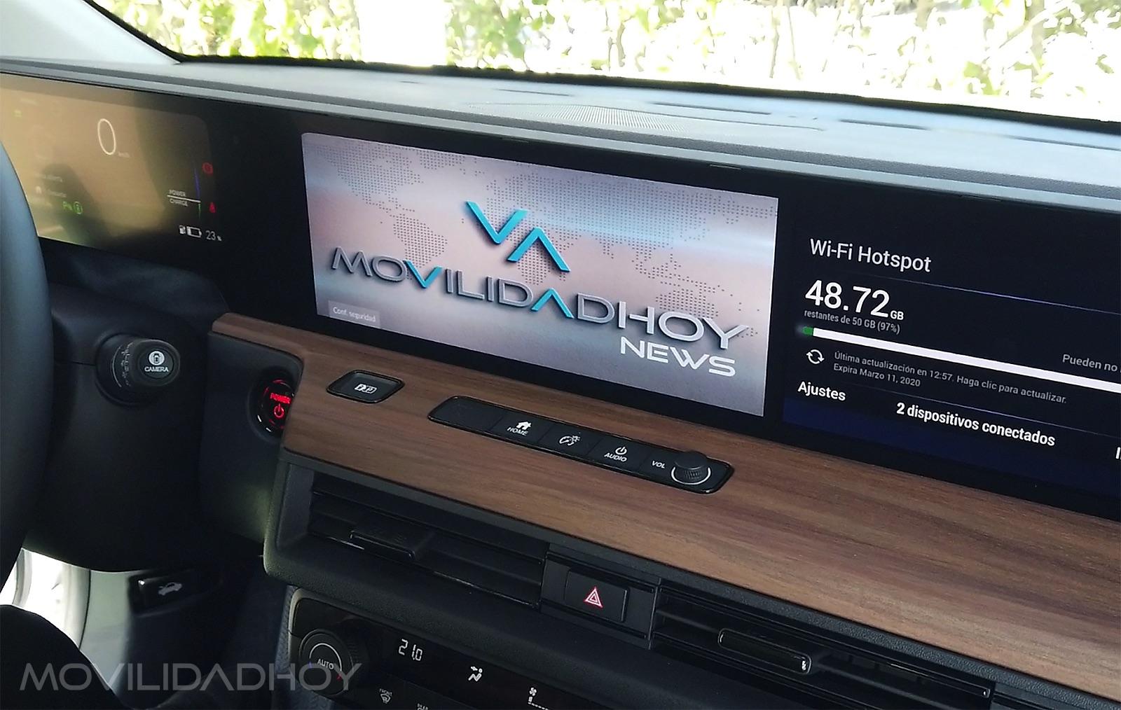 Honda e pantallas