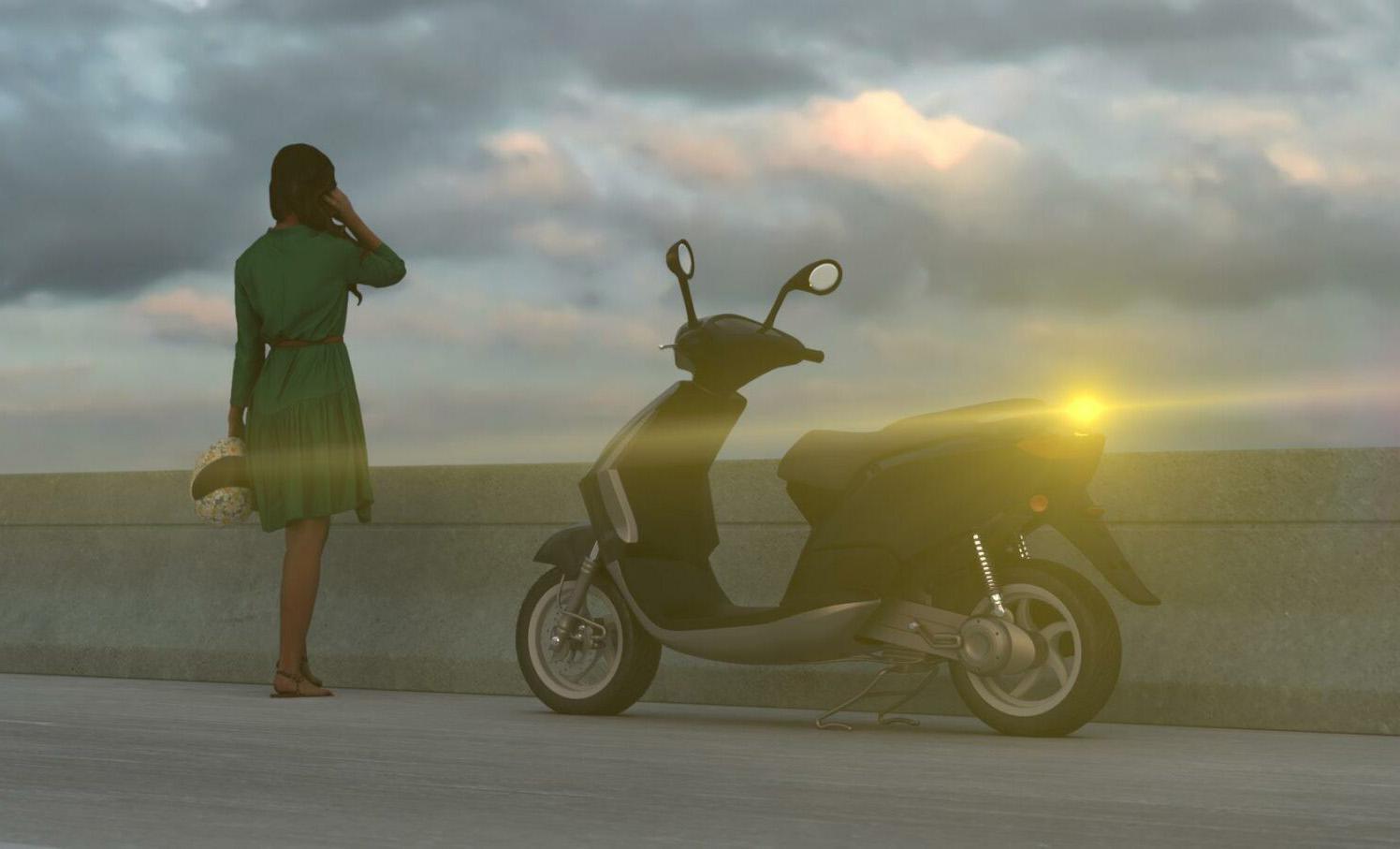 Dispositivo luminoso V-16 para motos